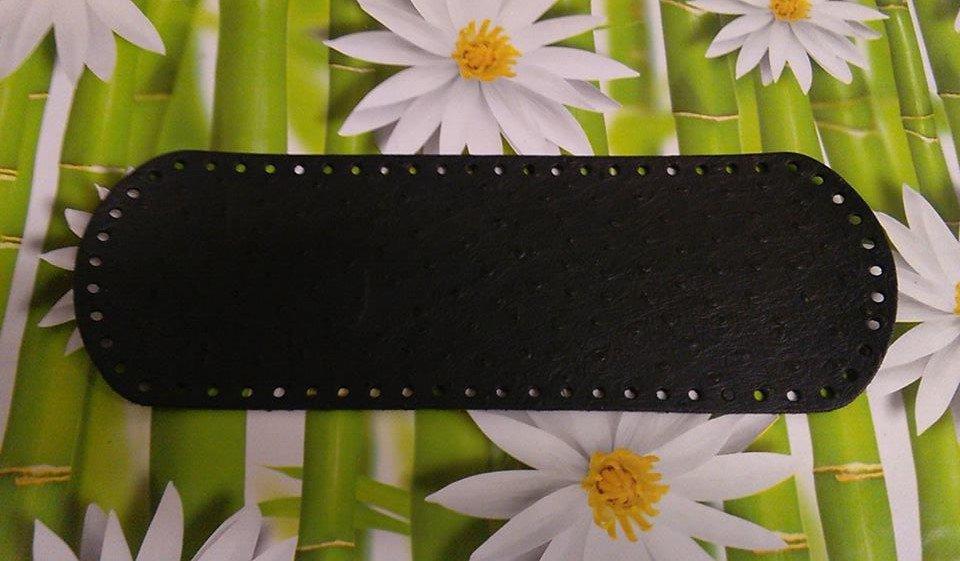fondo ovale 12x36 nero martellato