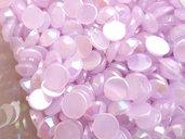 50pz - STRASS PLASTICA lilla chiaro mm 6