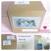 kit cucito - Portachiavi patchwork / Bluecreazioni sewing Kit
