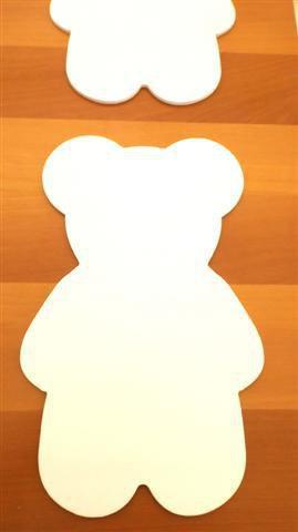 INSERZIONE RISERVATA PER LISA - sagome orsetto in legno laminato bianco - per cameretta bimbo - no fimo