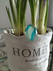 anello in vetro decorato a mano pezzo unico