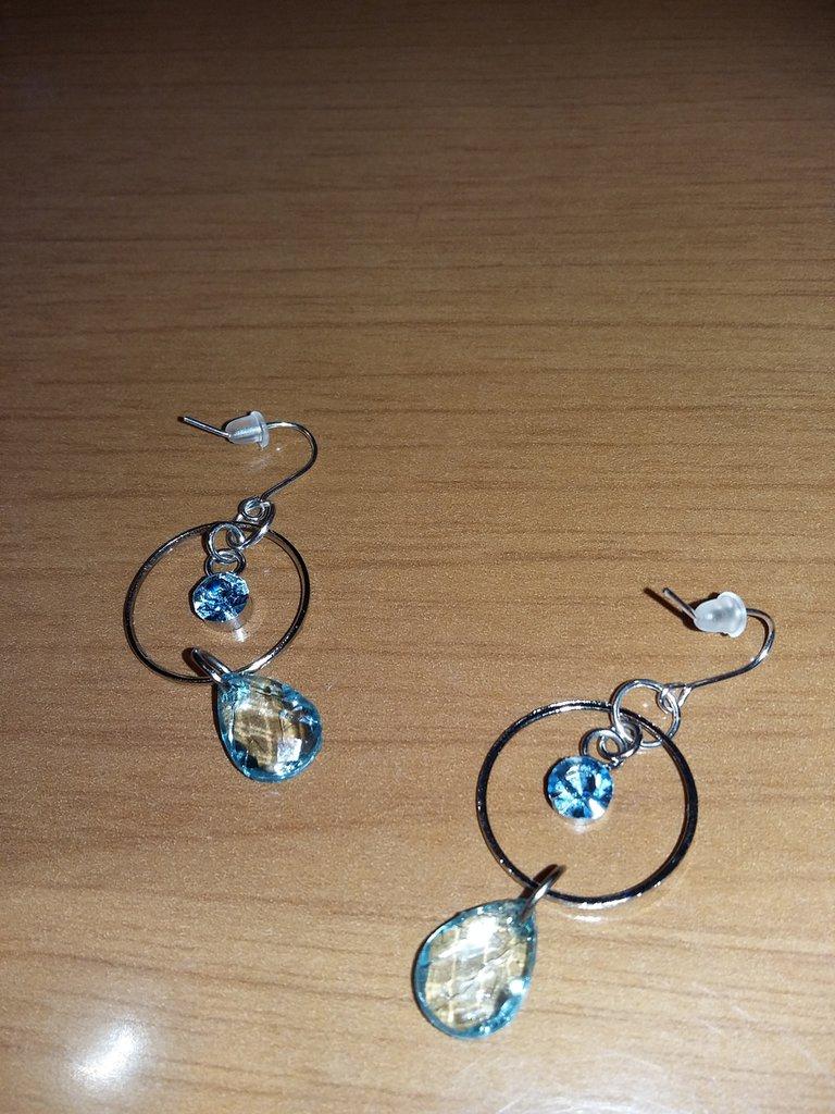 orecchini con pietra azzurra