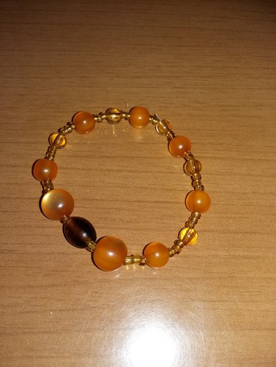bracciale color arancio