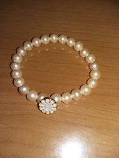 bracciale con perle rosa
