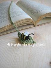 Segnalibro ape in puro cotone fatto a mano all'uncinetto - idea regalo!