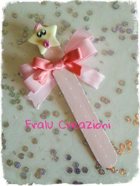 Bomboniera segnalibro rosa stellina fluorescente