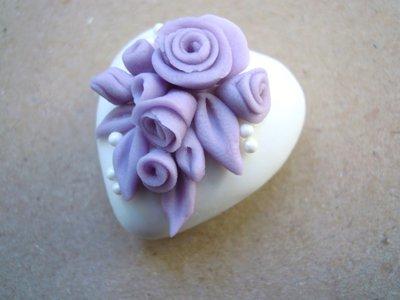 maxi cuori decorati lilla