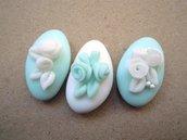 confetti decorati in pasta di zucchero tiffany