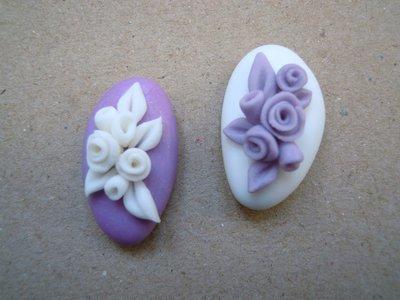 confetti decorati in pasta di zucchero tiffany lilla