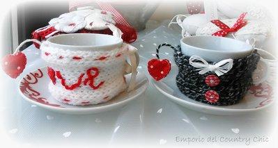 "COPPIA TAZZINE DA CAFFE ""YOU&ME"""