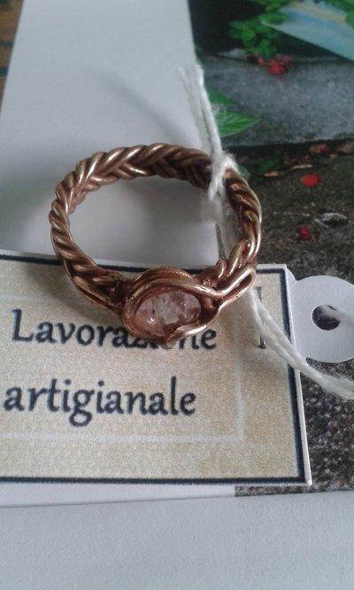 anello lavorazione artigianale con tormalina