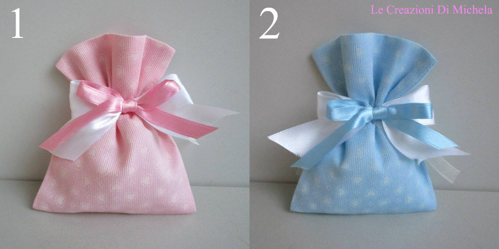 Favoloso Sacchetti,(FAI DA TE), Porta confetti, rosa o celeste cuori rosa o  GJ88