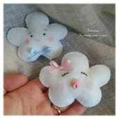 Nuvola con ciuccio- pannolenci bomboniera bimba
