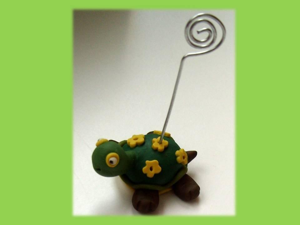Tartaruga portafoto segnaposto bomboniera