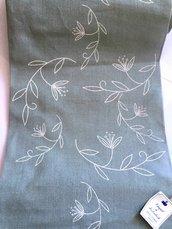 Bordo Verde Salvia con Motivi Avorio - Altezza 28 cm - Vaupel & & Heilenbeck