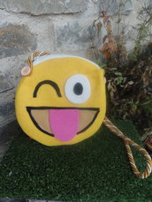 Borsa emoticon feltro