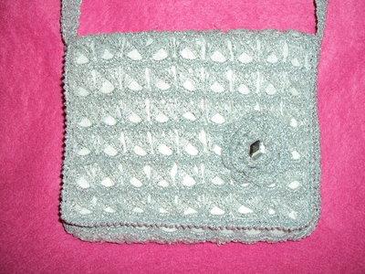 borsa fatta a mano grigio perlato effetto luxor