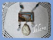 Ciondolo orologio Dalì