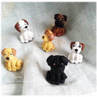 Portachiavi cane personalizzato fimo