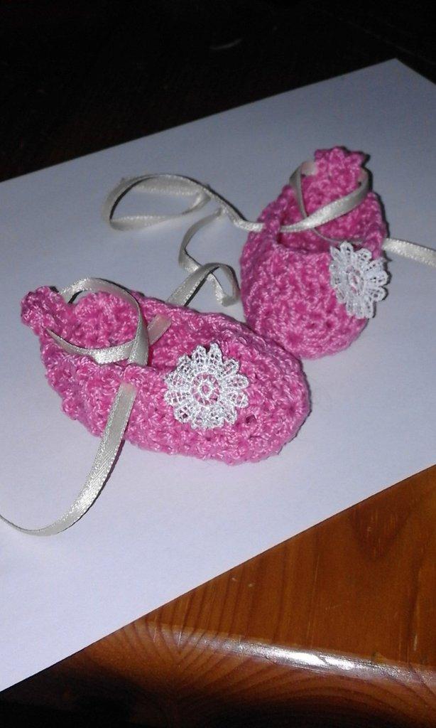 scarpine rosa bebè