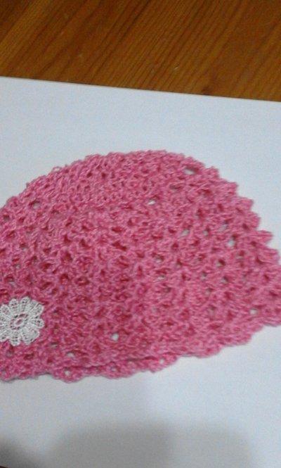 cappello neonata rosa