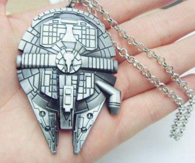 Collana star wars.guerre stellari Millennium Falcon idea regalo