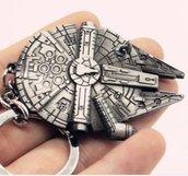 Portachiavi di guerre stellari-star wars dell'astronave Millennium Falcon idea regalo