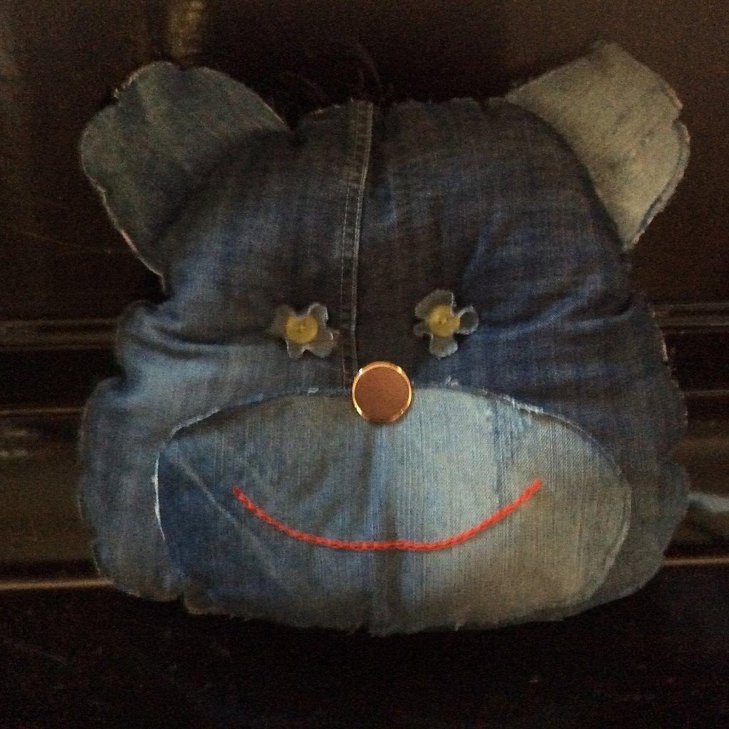 Cuscino jeans orso