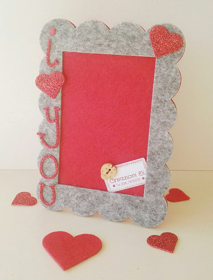 "CORNICE ROMANTICA ""I LOVE YOU"""
