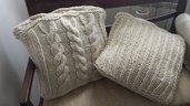copri cuscino in lana