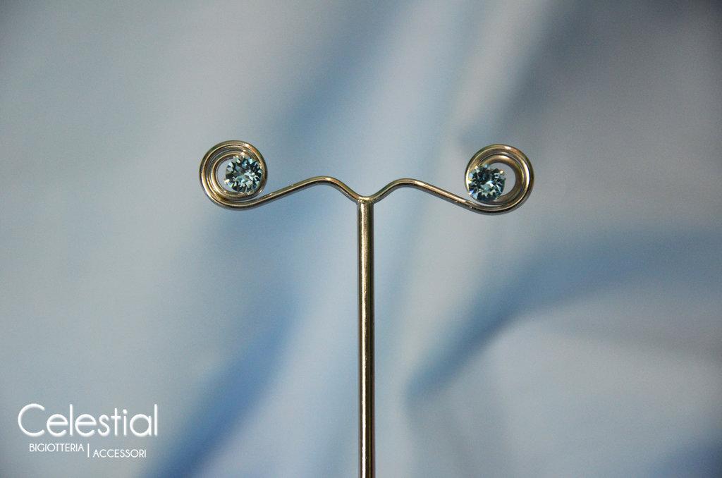 Orecchini Chaton - Aquamarine