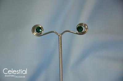 Orecchini Chaton - Emerald