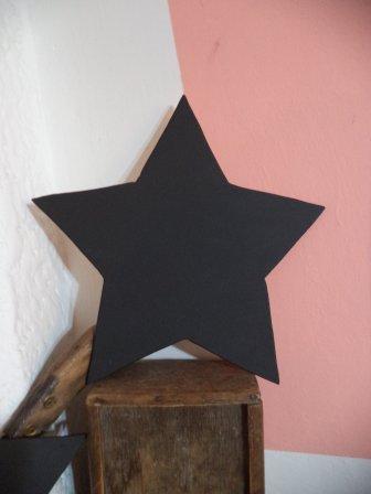 Stella stellina.... lavagna compensato e vernice