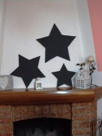 Tris di stelle Shabby Chic grandezze diversa