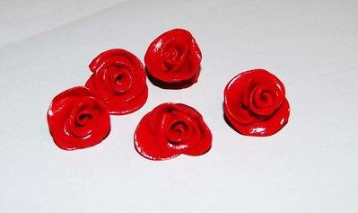 rose in fimo per fare bijou