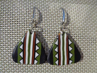 Orecchini pendenti in pasta polimerica etnici