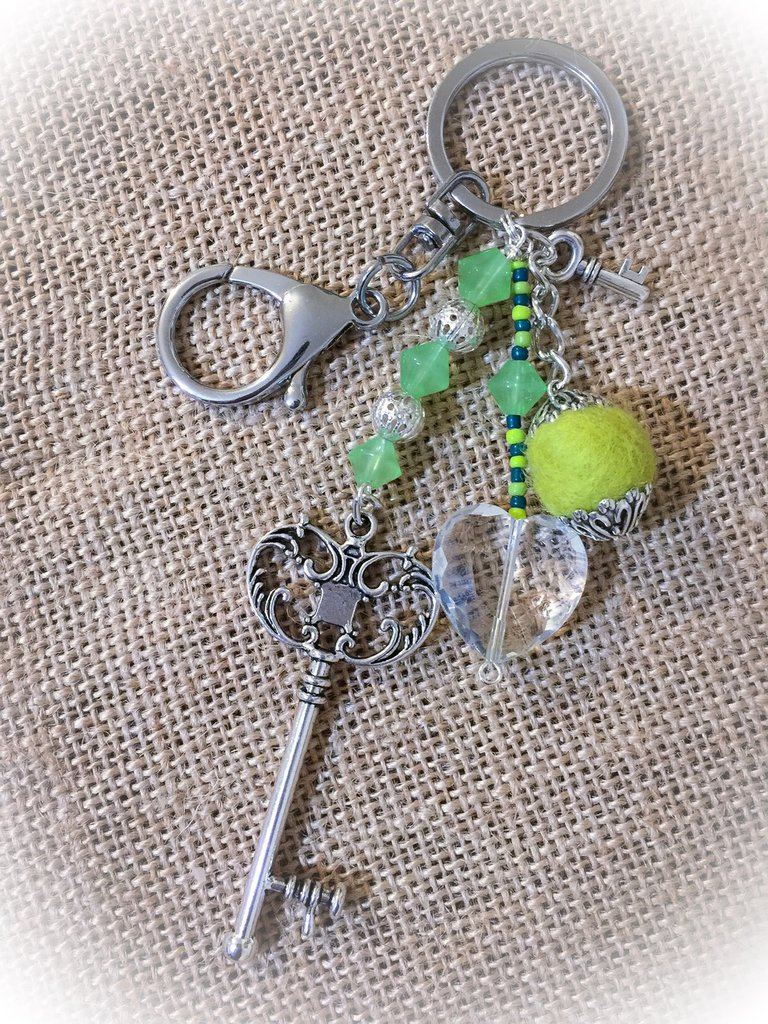 Porta chiavi verde