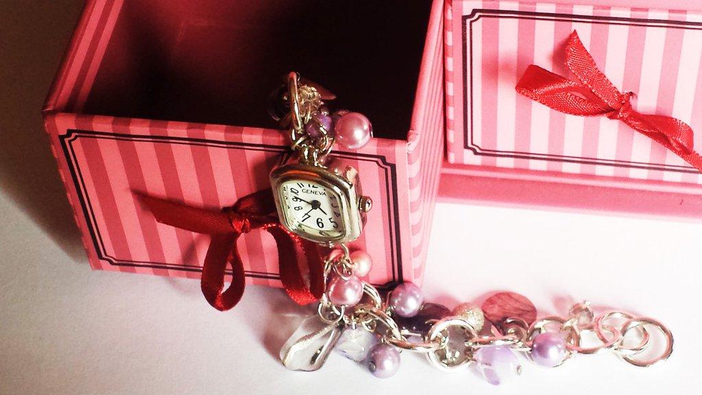 orologio bijoux rosa