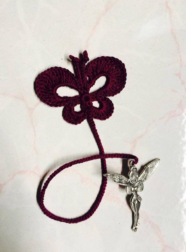 Segnalibro all'uncinetto farfalla