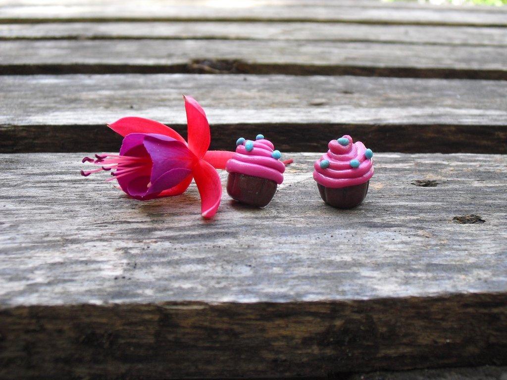 Orecchini cupcake rosa