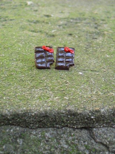 orecchini barrette cioccolata