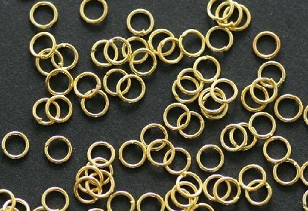 100 anelli placcati oro