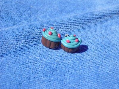 orecchini cupcake azzurri