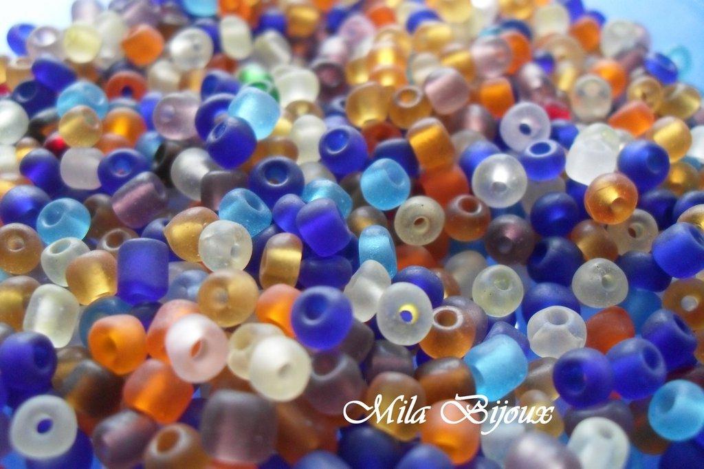 perline frosted miste 4mm 50gr