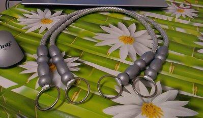 coppia di manci similpelle con perle di olivo argento