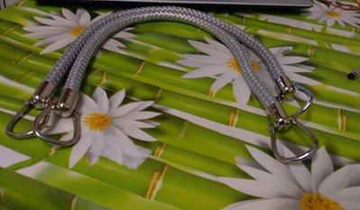 coppia di manci intreccio cm 55 con anello finale colore argento