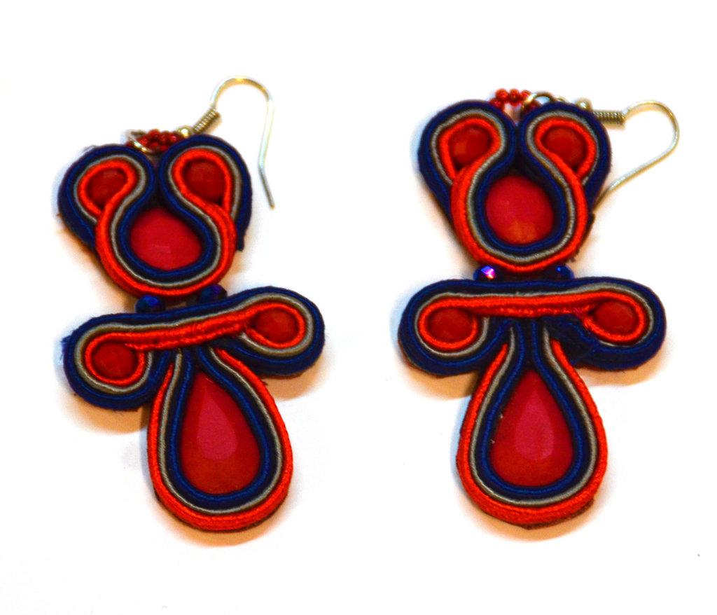 "Orecchini Soutache "" RED """