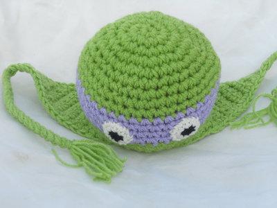 Amigurumi Tartarughe Ninja : Cappello tartarughe ninja realizzato alluncinetto in ...