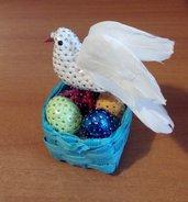 Cestino pasquale con colomba - decorato