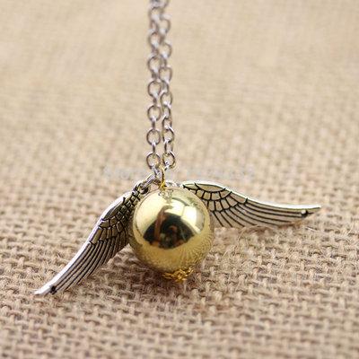 Collana Ciondolo Harry Potter Boccino D'Oro Quidditch Doni Della Morte Ali